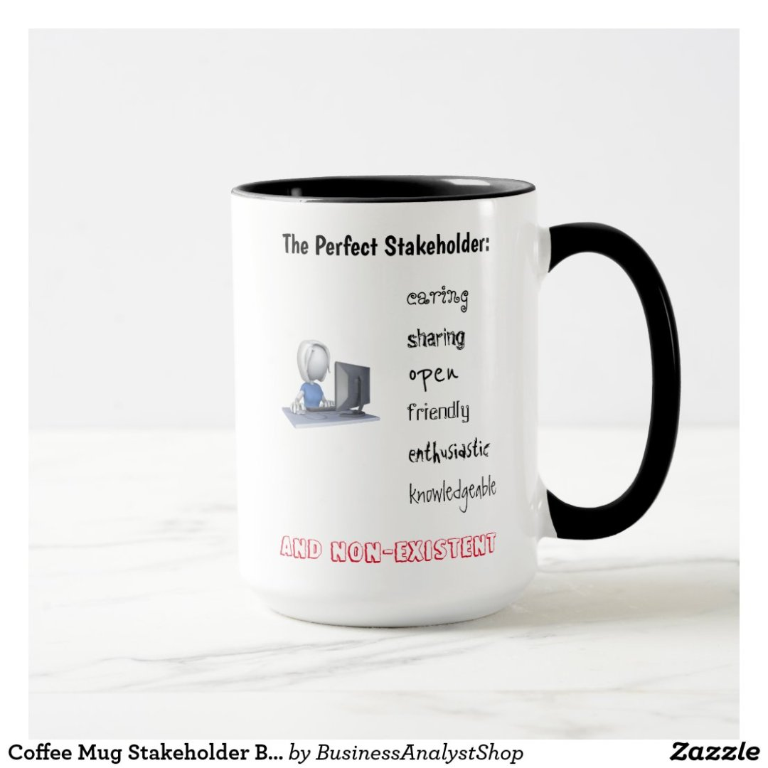 Coffee Mug Stakeholder Business Analyst