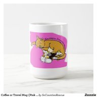 Coffee or Travel Mug (Pink Kitty Logo)