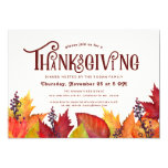 Color of Autumn | Thanksgiving Dinner Party Invitation