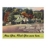 Colorado, Cupp Cottage Court Postcard