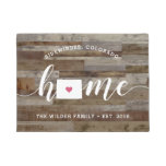 Colorado Home State Personalized Wood Look Doormat