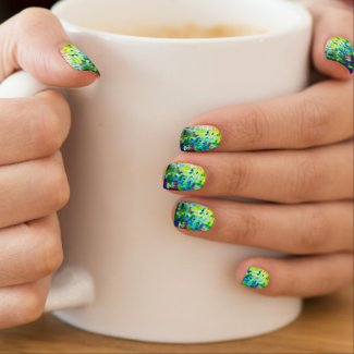 Colored ice fingernail decal