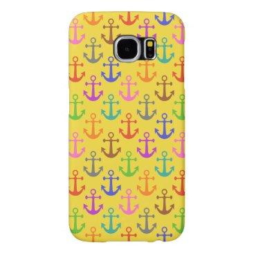Colorful Anchor Pattern Retro Nautical Samsung Galaxy S6 Case