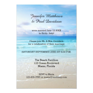 Wedding Reception Invitation Beauteous