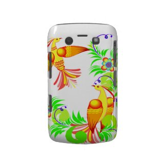 Colorful Birds and Flowers Blackberry Bold Case casematecase