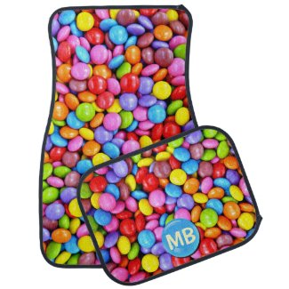 Colorful Candies Personalize Photo Car Mat