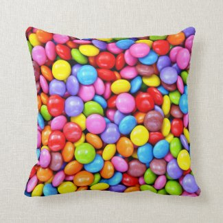 Colorful Candies Photograph Pillow