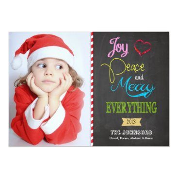 Colorful Chalkboard Holiday Photo Cards