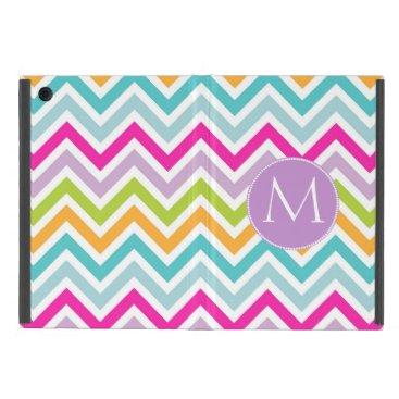 Colorful Chevron Monogram Mini iPad Case