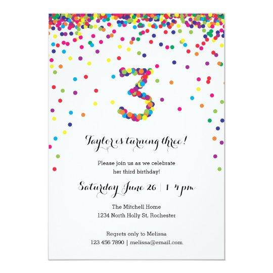 3rd birthday invitation card for baby