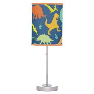 Colorful Dinosaur Pattern Desk Lamps