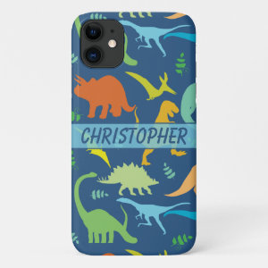 Colorful Dinosaur Pattern to Personalize iPhone 11 Case