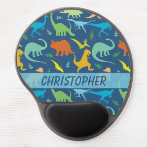 Colorful Dinosaur Pattern to Personalize Gel Mouse Pad