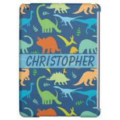 Colorful Dinosaur Pattern to Personalize iPad Air Covers