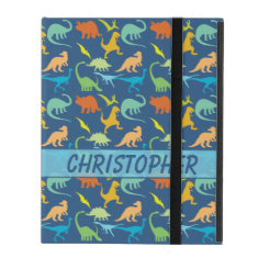 Colorful Dinosaur Pattern to Personalize iPad Cases