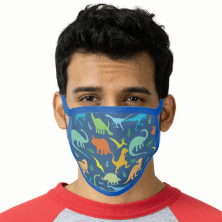 Colorful Dinosaurs Face Mask