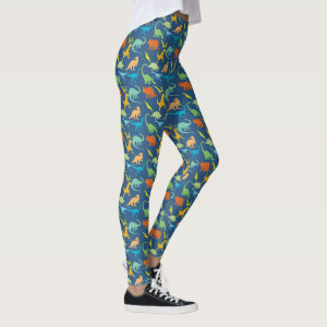 Colorful Dinosaurs Leggings