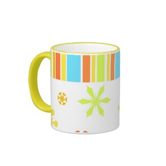 Colorful floral stripes - Mug