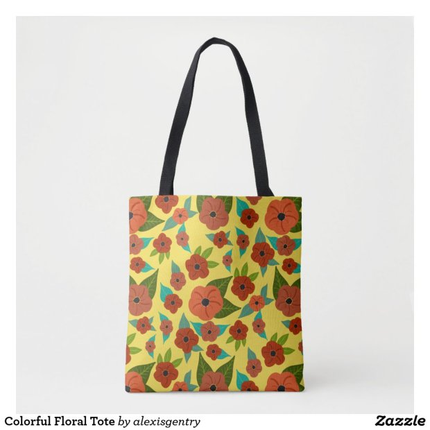 Colorful Floral Tote