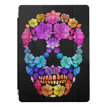 Colorful Flower Skull iPad Pro Cover