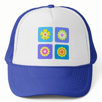 Colorful flowers hat