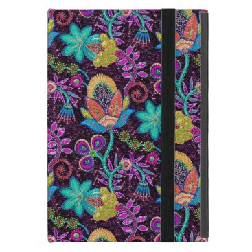Colorful Glass Beads Look Retro Floral Design 2 iPad Mini Cover