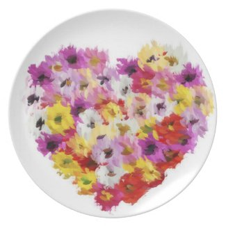 Colorful Heart Dinner Plate
