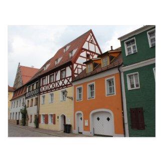 Colorful Houses Postcard