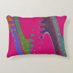 Colorful Mod pink abstract Accent Pillow