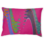 Colorful Mod pink abstract Large Dog Bed