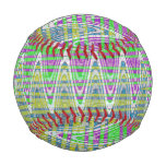 Colorful Pastel Zigzag Pattern Baseball