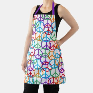 Colorful Peace Symbols Apron