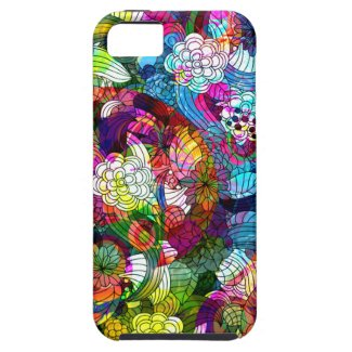 Colorful Romantic Vintage Floral Pattern iPhone 5 Case