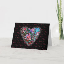 Colorful Roses Heart Valentine Love Romance cards