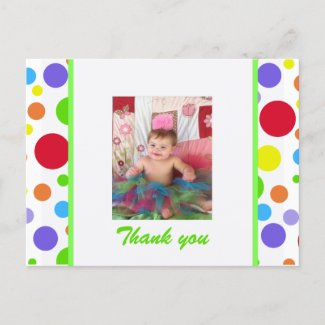 Colorful Spots: Thank You Postcard