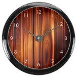 colorful wood texture varnished wood aqua clock