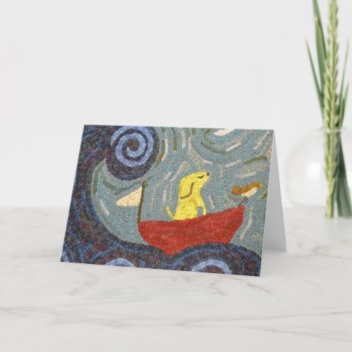 Come Sail Away - Hooked Rug Design Notecard