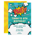 Comic Book PARTY! Invitation