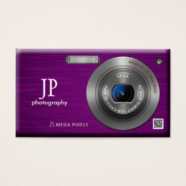 Compact Camera Professional Photographer QR Code Business Card