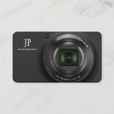 Compact Digital Camera Photography Business Cards