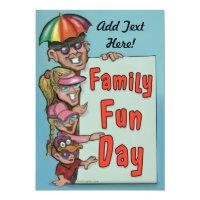 Company Picnic Family Fun Day Invitation