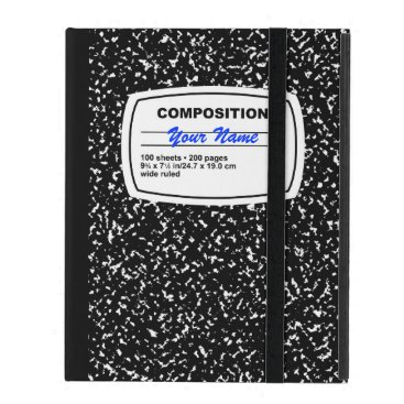 Composition Notebook Customizable iPad Folio Case
