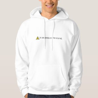 Computer sysadmin unexpected error icon sweatshirts