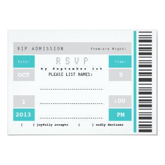 Ticket Stub Invitation Template Admission