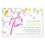 Confetti Finally Free | Divorce Party Invitation