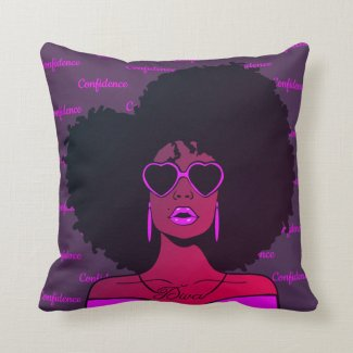 Confident African Black Natural Afro Hair Woman