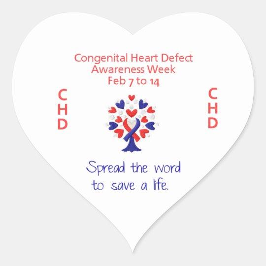 Congenital Heart Defect Awareness Week Stickers