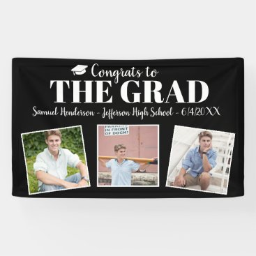 Congrats Grad Custom Photos Name Graduation Sign