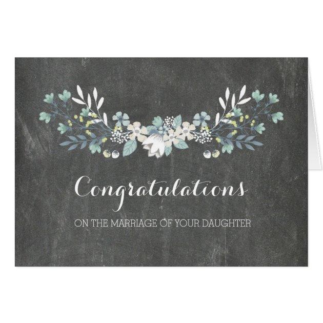 Congratulations Parents Of The Bride Chalkboard Card Zazzle