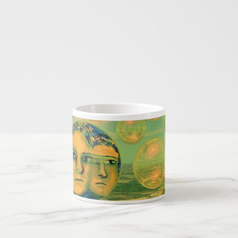 Consciousness – Gold and Green Awakening Espresso Cup